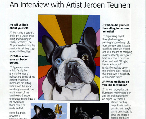 screenshot interview with the dog painter 2010